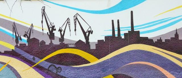 Veggmaleri i bydelen Zaspa i Gdansk. Gdansk pakkereise - Hit The Road Travel