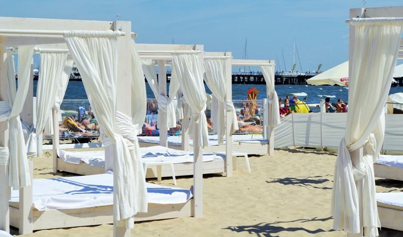 Stranda i Sopot ved siden av Grand Hotellet. Naturreisen til Polen – Hit The Road Travel