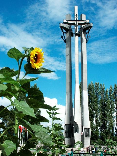 Monumentet for de falne skipsverftsarbeidere. Reiser med en veteransporvogn. Gdansk reise – Hit The Road Travel