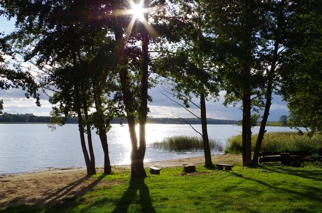 Jezioro we wsi Blanki