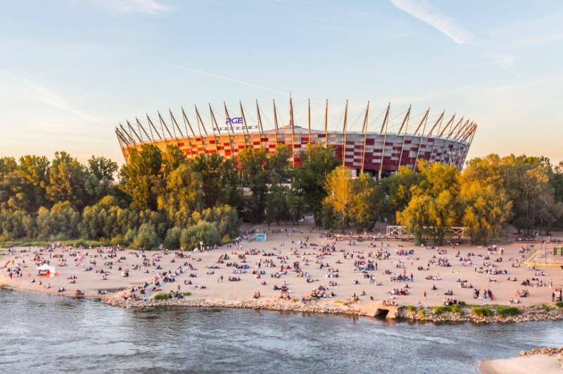 Fotballarenaen Narodowy i Warszawa. Reise til Warszawa - Hit The Road Travel